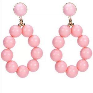 Pink Ball Statement Earrings